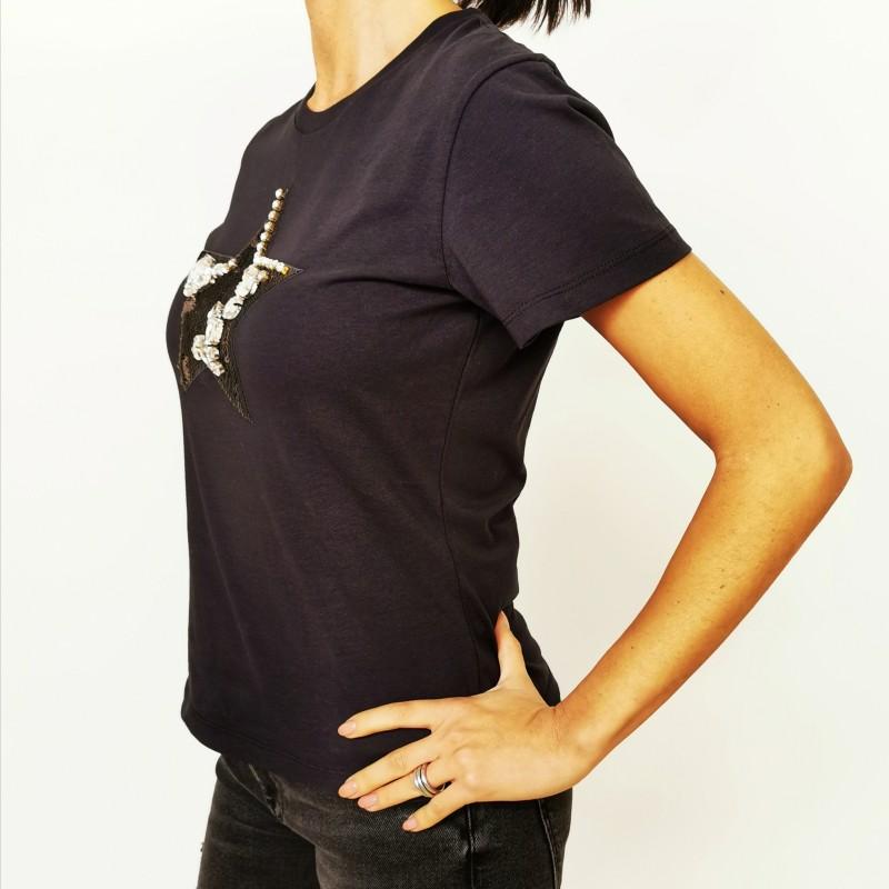 PINKO - RADIARE cotton t-shirt - Nero