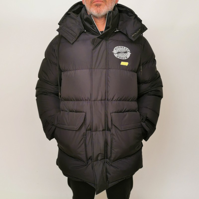 MCQ BY ALEXANDER MCQUEEN - Quilted down jacket with hood - Darkest Black