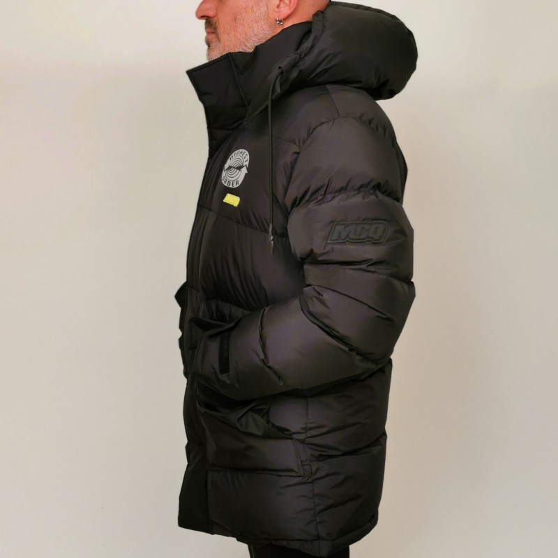 MCQ BY ALEXANDER MCQUEEN - Quilted down jacket with hood - Darkest Black