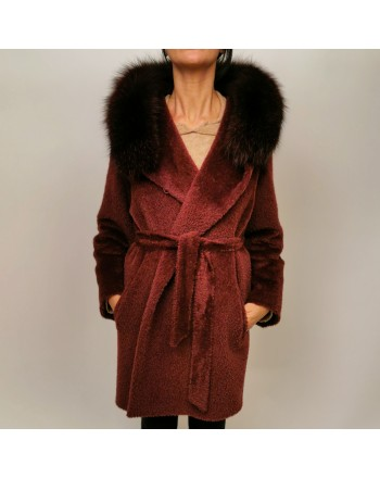 MAX MARA STUDIO - Wool Coat OSMIO - Burgundy