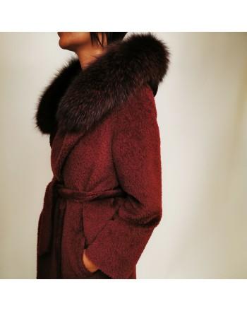 MAX MARA STUDIO - Wool Coat OSMIO - Burgundy