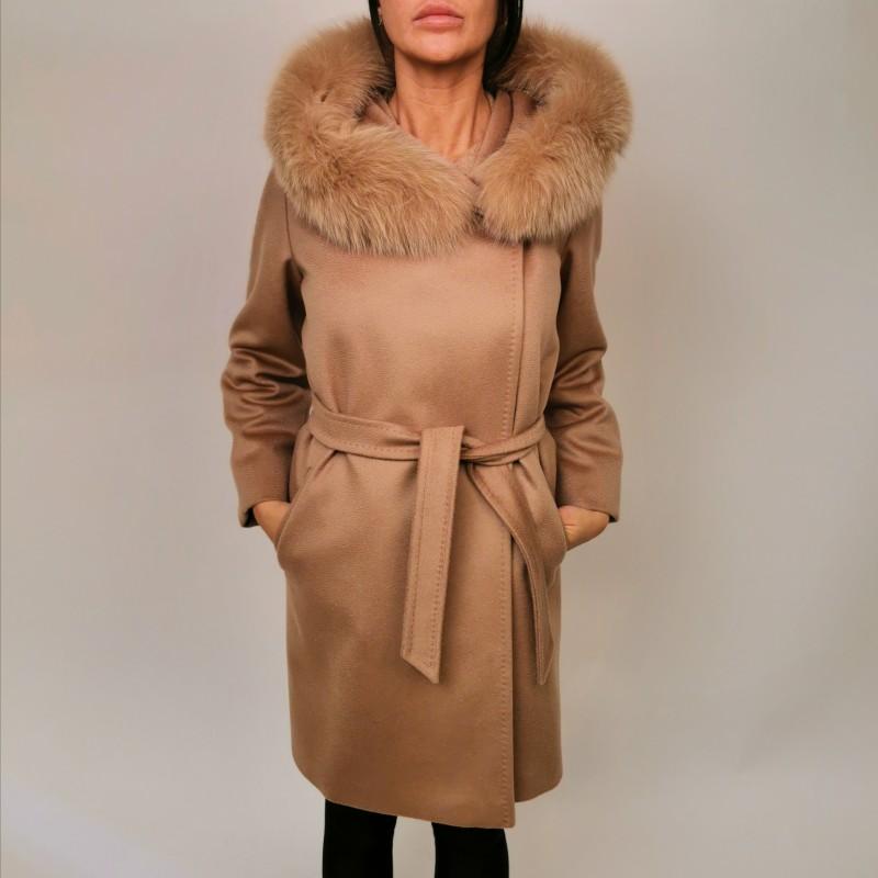 MAX MARA STUDIO - MANGO wool coat - Camel