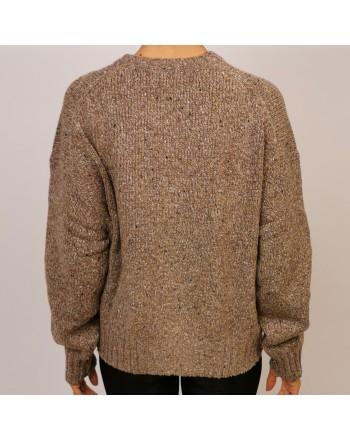 POLO RALPH LAUREN - Wool POLO KNIT - Tan Donegal/Yellow