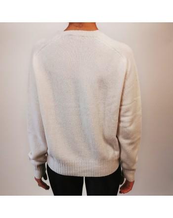 POLO RALPH LAUREN - Horse Logo wool sweater - Crem