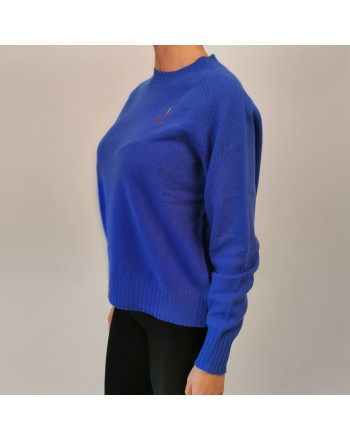 POLO RALPH LAUREN - Horse Logo wool sweater - Maidstone Blue