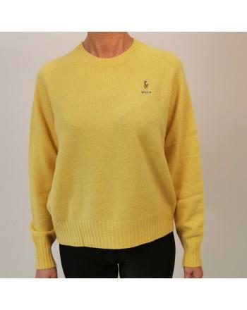 POLO RALPH LAUREN -  Maglione Logo Cavallo in lana - Yellow