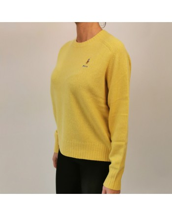POLO RALPH LAUREN - Horse Logo wool sweater - Yellow