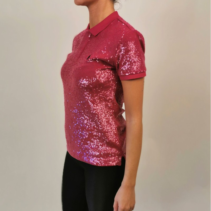 POLO RALPH LAUREN - Polo with sequins - Fuchsia