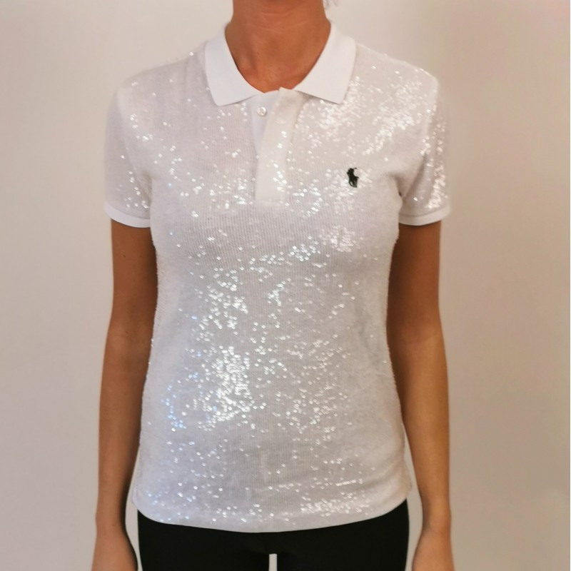 POLO RALPH LAUREN - Polo with sequins - White