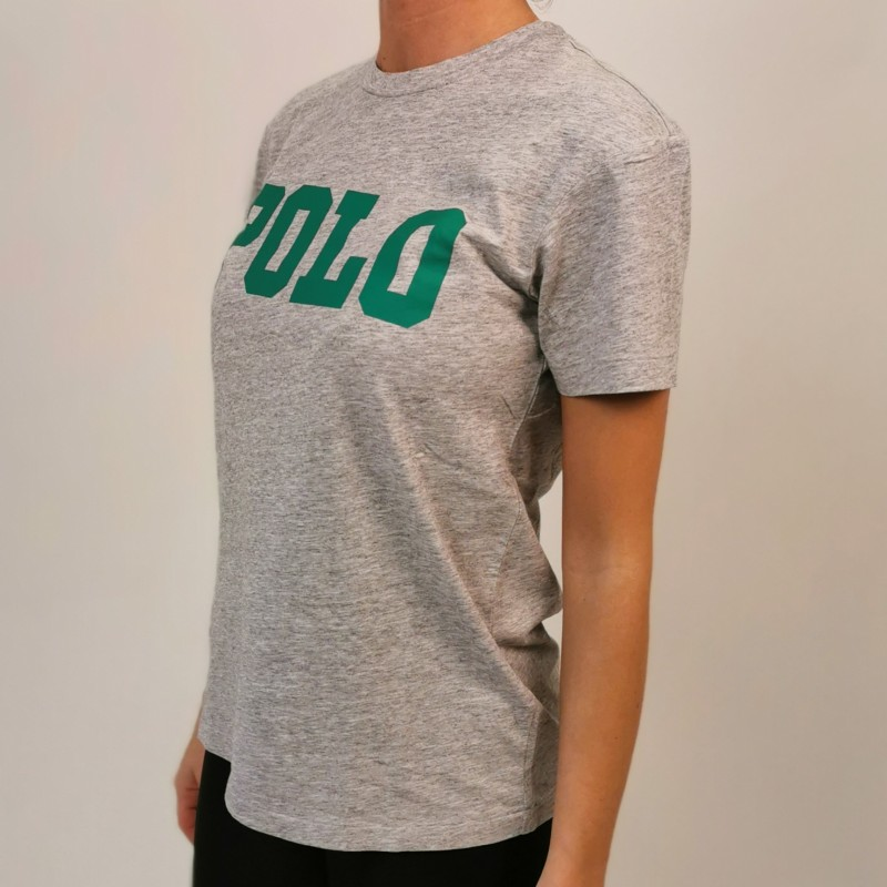 POLO RALPH LAUREN - POLO print cotton t-shirt - Grey