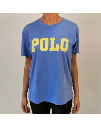 POLO RALPH LAUREN - POLO print cotton t-shirt - Lake Blue