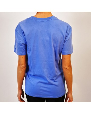 POLO RALPH LAUREN -  T-Shirt  stampa POLO in cotone - Lake Blue