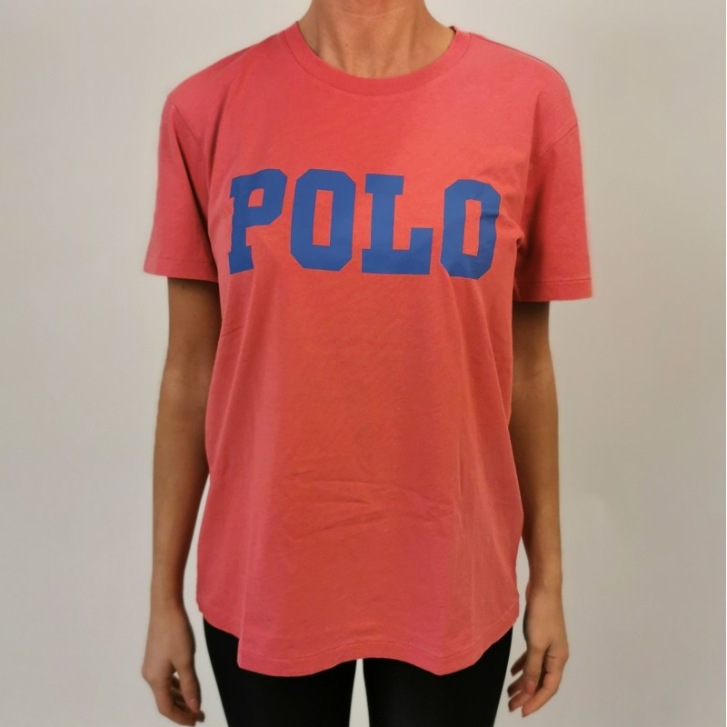 POLO RALPH LAUREN - POLO print cotton t-shirt - Nantucket red