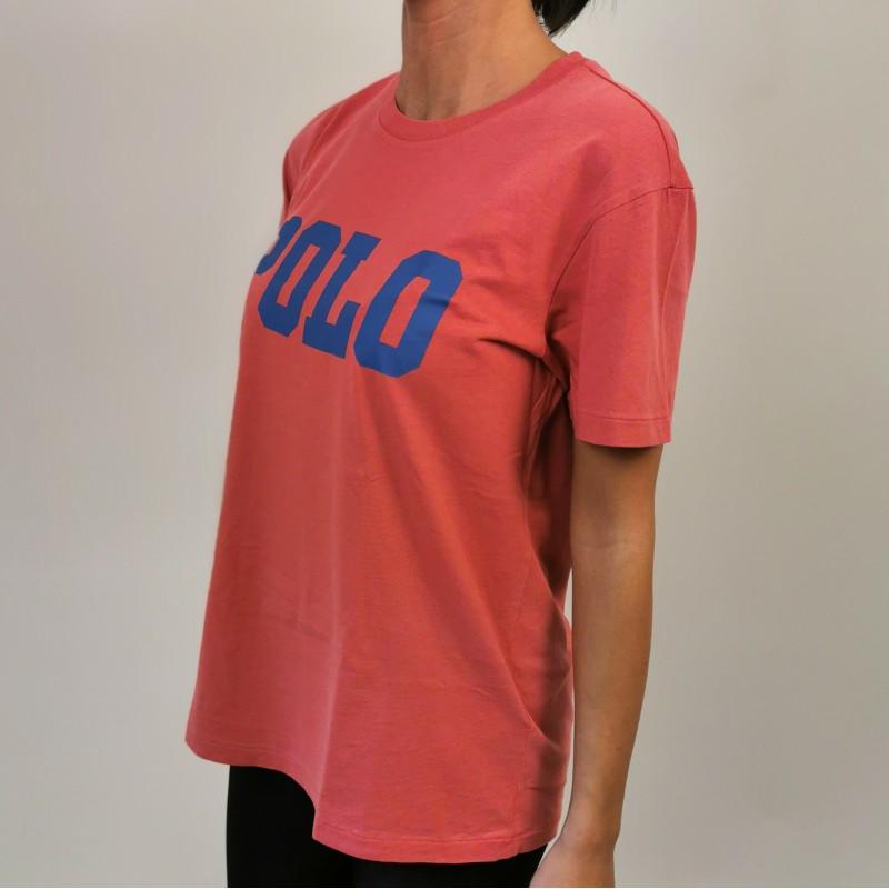POLO RALPH LAUREN - POLO print cotton t-shirt - Nantucket red