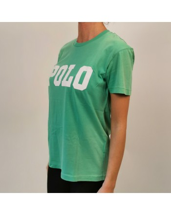 POLO RALPH LAUREN - POLO print cotton t-shirt - Green