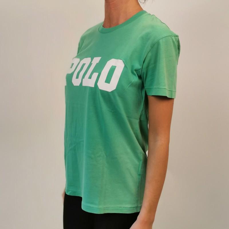 POLO RALPH LAUREN - POLO print cotton t-shirt - Green