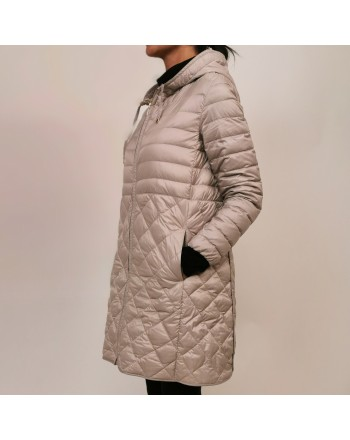 MAX MARA THE CUBE - Quilted down jacket with hood - Silver