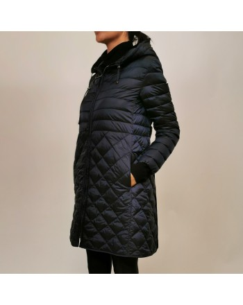 MAX MARA THE CUBE - Quilted down jacket with hood - Classic Dark Blue