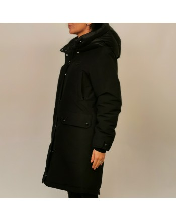 DUVETICA - Long TEGMEN down jacket with hood - Black
