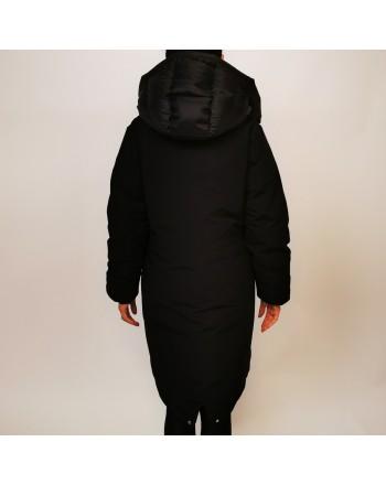 DUVETICA - Long TEGMEN down jacket with hood - Black