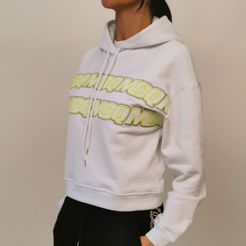 MCQ BY ALEXANDER MCQUEEN - Cotton hoodie - White