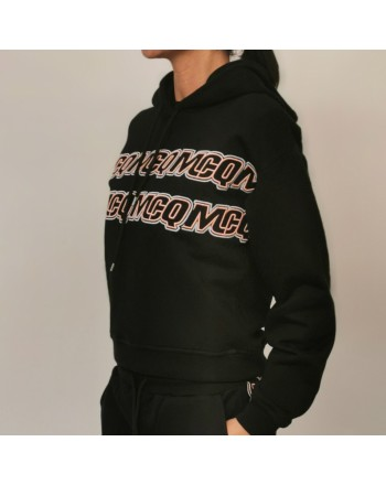MCQ BY ALEXANDER MCQUEEN - Cotton hoodie - Darkest Black