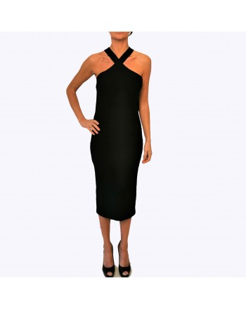 MCQ BY ALEXANDER MCQUEEN - Stretch cotton dress -  Darkest Black