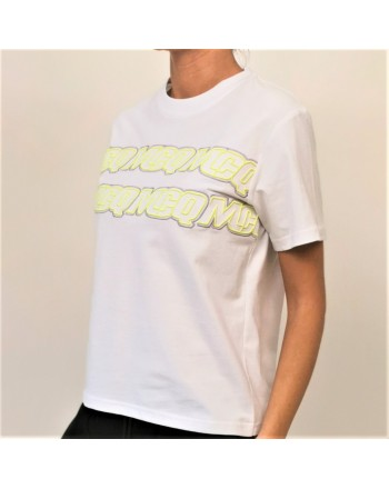 MCQ BY ALEXANDER MCQUEEN - T-shirt in cotone band logo - Bianco