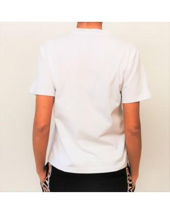 MCQ BY ALEXANDER MCQUEEN - Band Logo cottonn t-shirt - White