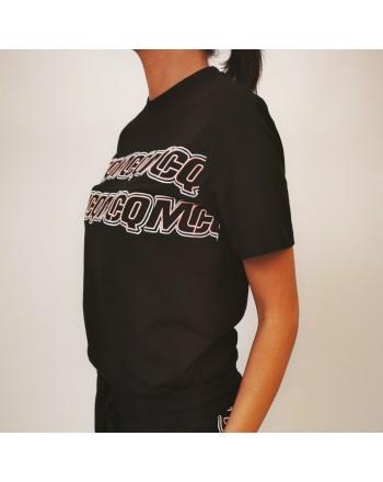 MCQ BY ALEXANDER MCQUEEN - T-shirt in cotone band logo - Darkest balck