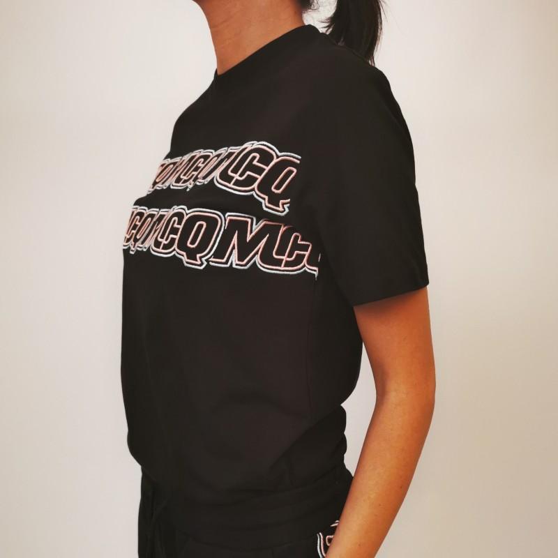 MCQ BY ALEXANDER MCQUEEN - Band Logo cottonn t-shirt - Darkest black