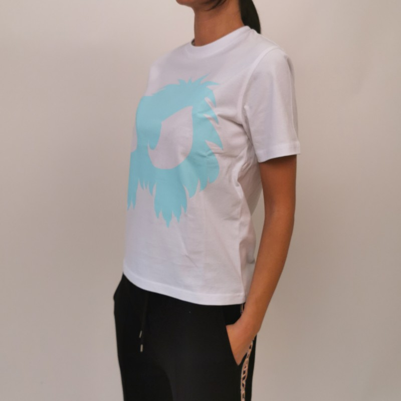 MCQ BY ALEXANDER MCQUEEN -  Band Tee Cotton T-Shirt  -White/ Water