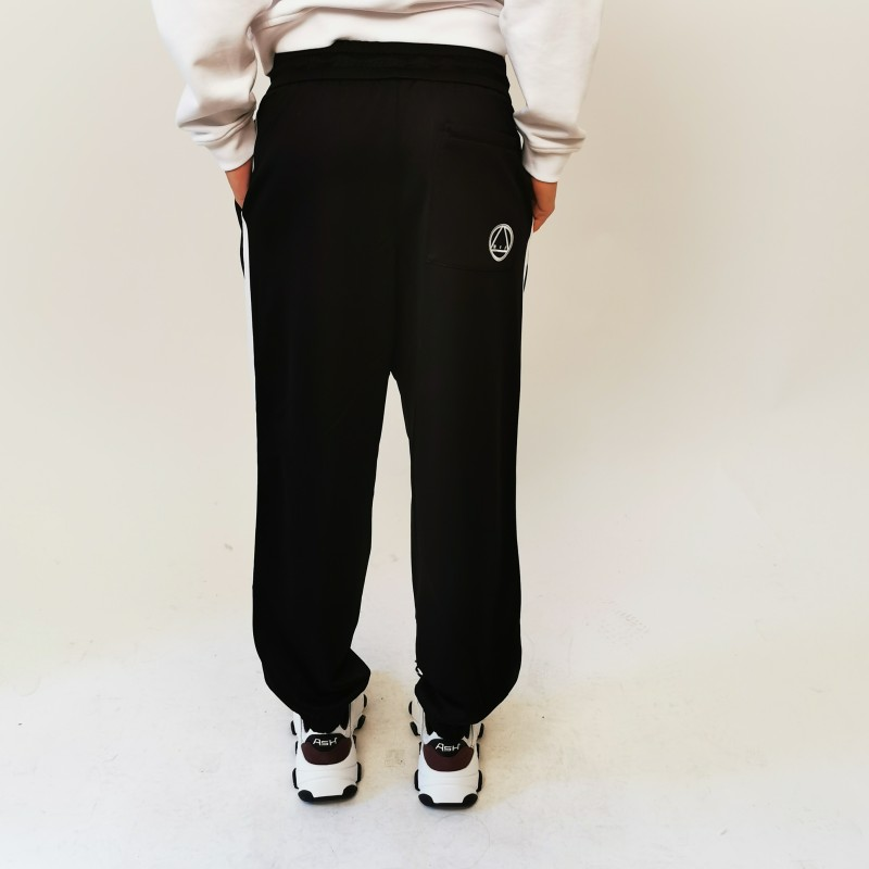 MCQ by ALEXANDER MCQUEEN  - Pantalone Sweatpants con Banda Laterale - Darkest Black