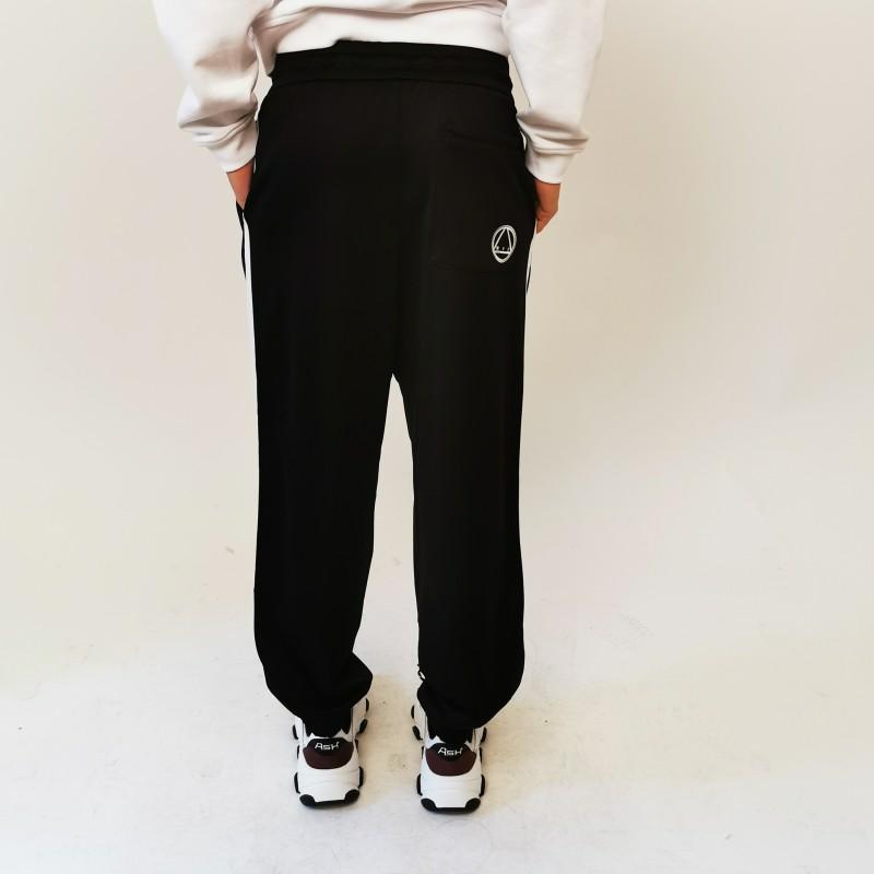 MCQ by ALEXANDER MCQUEEN  - Pantalone Sweatpants con Banda Laterale - Darkest Black