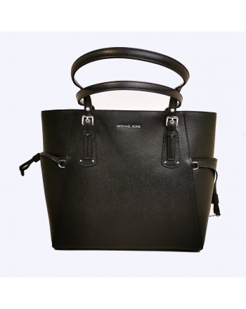 MICHAEL BY MICHAEL KORS - Borsa VOYAGER in pelle - Nero