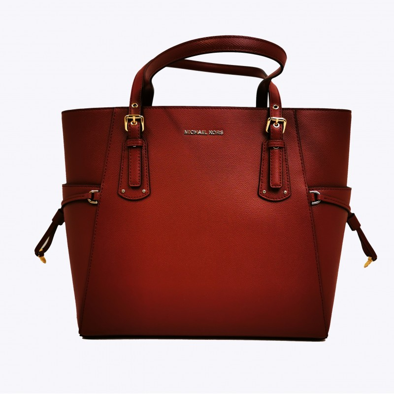 MICHAEL BY MICHAEL KORS - Borsa VOYAGER in pelle - Brandy