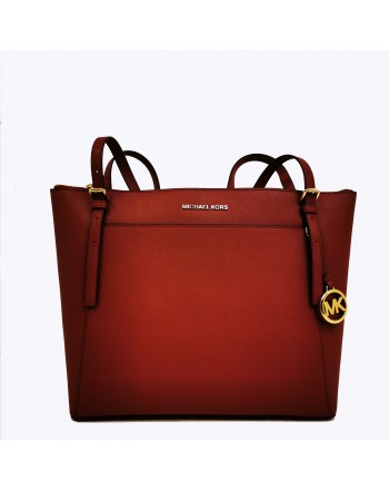 MICHAEL BY MICHAEL KORS - VOYAGER leather tote bag - Brandy