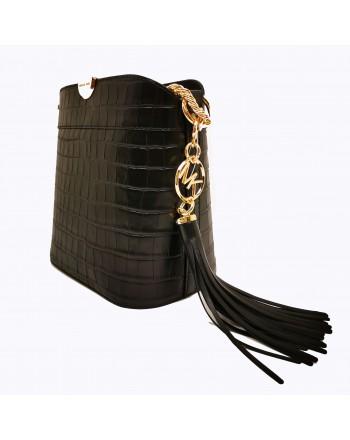 MICHAEL BY MICHAEL KORS - Crocodile print bucket bag - Black