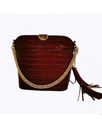 MICHAEL BY MICHAEL KORS - Crocodile print bucket bag - Brandy