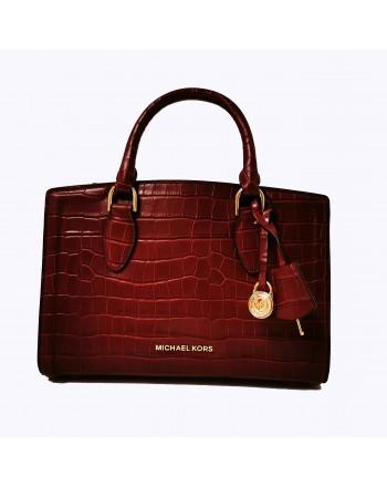 MICHAEL BY MICHAEL KORS - Crocodille print leather bag - Brandy
