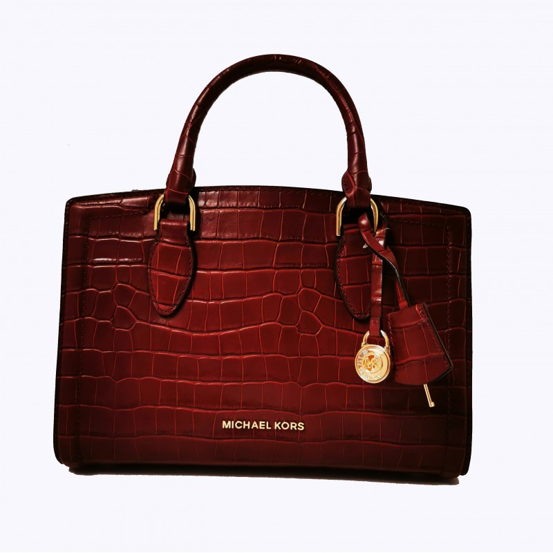 MICHAEL BY MICHAEL KORS - Crocodille print leather bag - Brandy