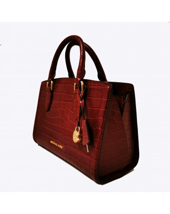 MICHAEL BY MICHAEL KORS - Borsa in pelle stampa Coccodrillo - Brandy