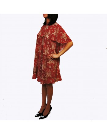 RED VALENTINO - Flora Printed Dress - Varnish Red