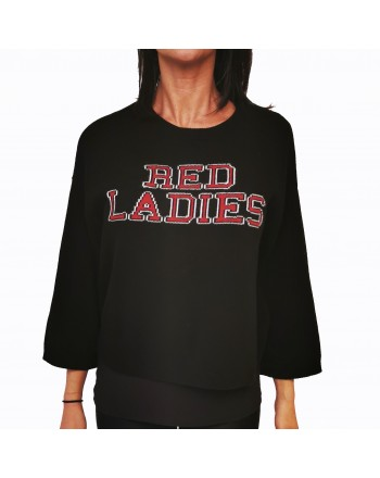 RED VALENTINO - Red Ladies  Wool Knit - Black