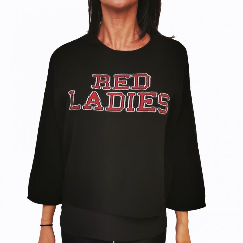 RED VALENTINO - Maglia in Lana Red Ladies - Nero