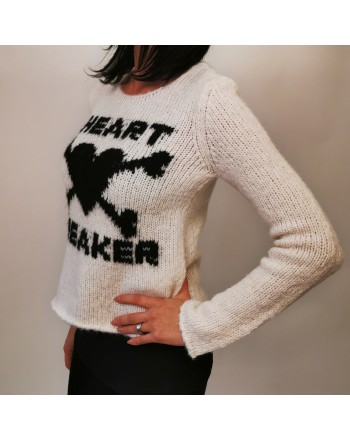 RED VALENTINO- Wool Knit Heartbreaker - Ivory/Black