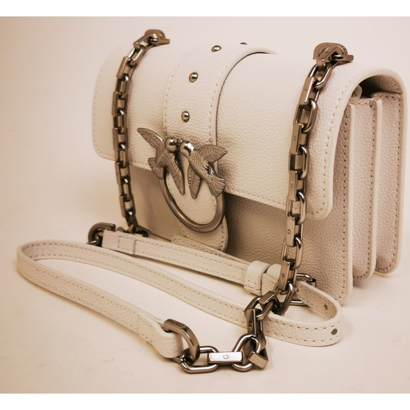 PINKO - Borsa MINI LOVE SIMPLY - Bianco