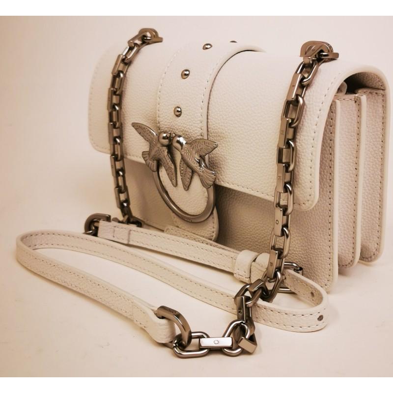 PINKO - MINI LOVE SIMPLY Bag - White