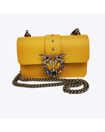 PINKO - Borsa LOVE MINI JEWELS - Giallo