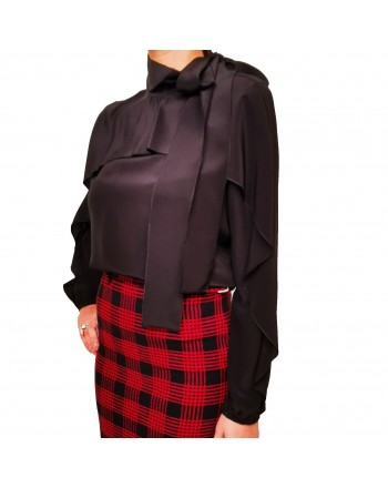 RED VALENTINO - Silk shirt - Black